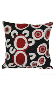 Aboriginal Art Cushion Cover by Rama Kaltu Kaltu Sampson