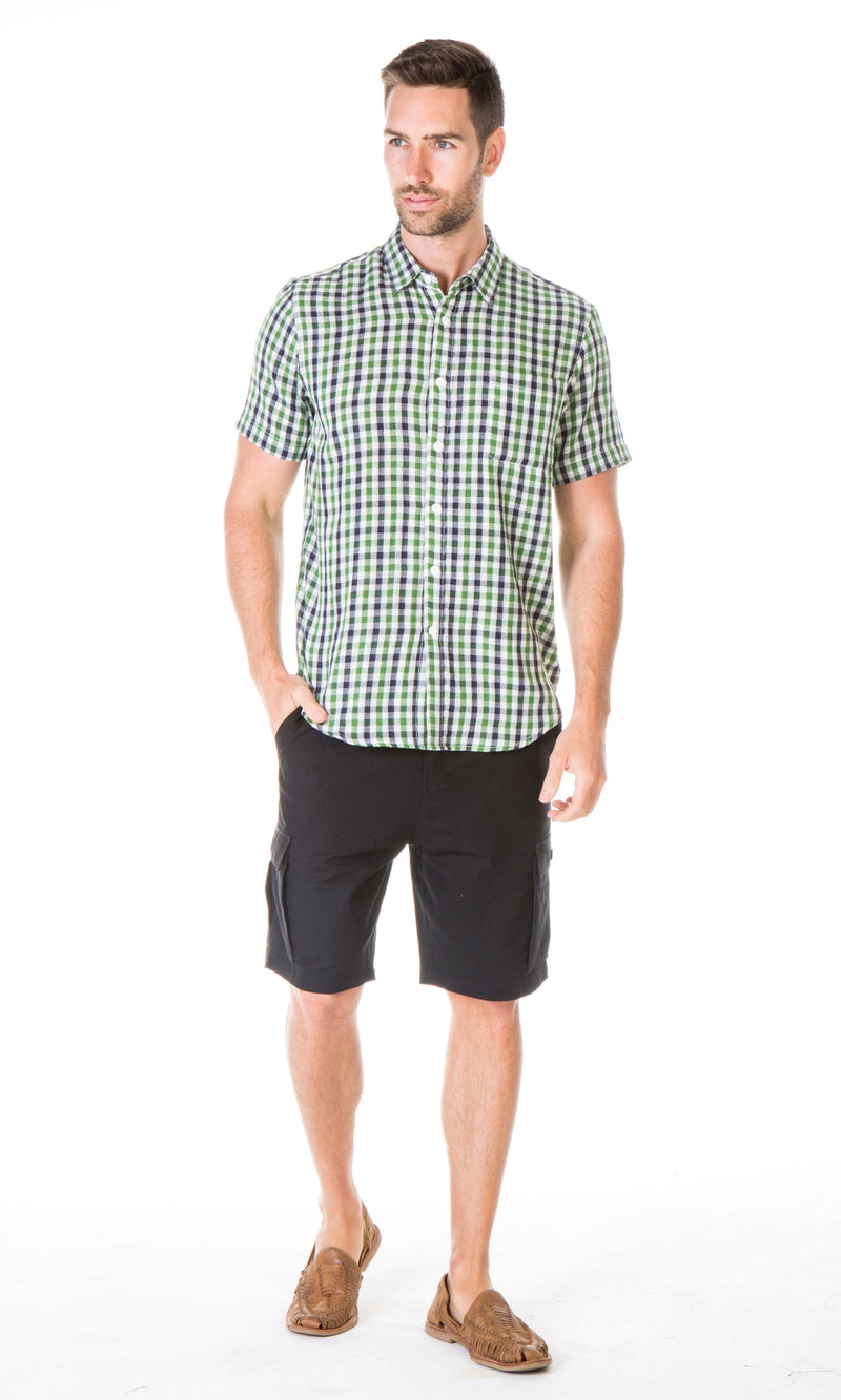 Hemp Cotton Shirt Check, More Colours
