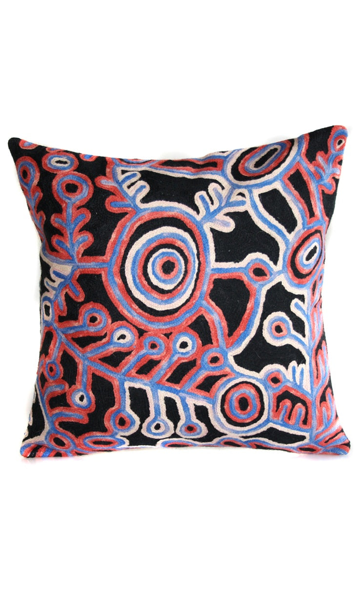 Aboriginal Art Cushion Cover by Theo Hudson (2)