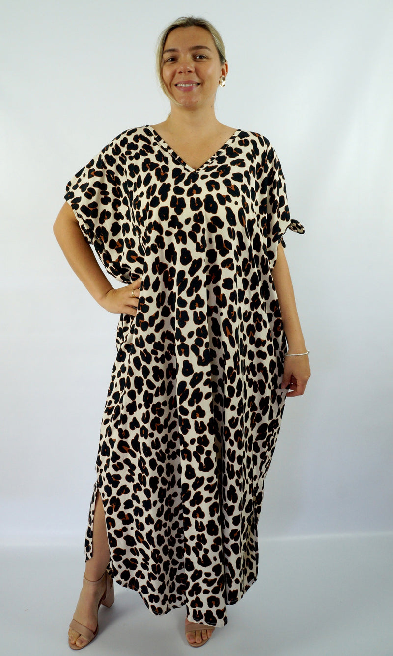 Rayon Kaftan Long Mykonos Savannah