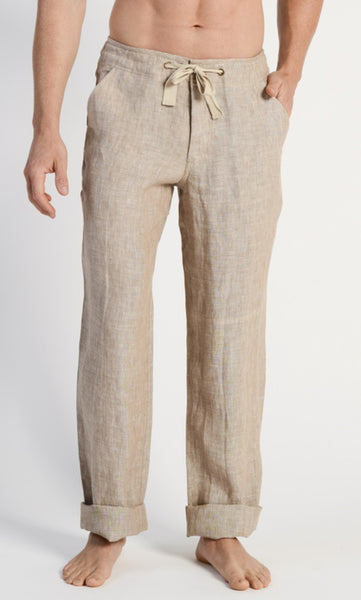 Hemp Pant Drawstring Waist Sand, Sizes 30 - 40