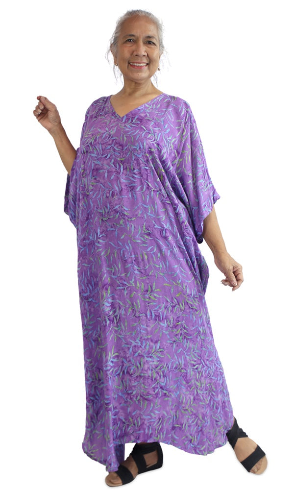 Rayon Kaftan Long Tree Fern, More Colours, Sizes 10 - 26