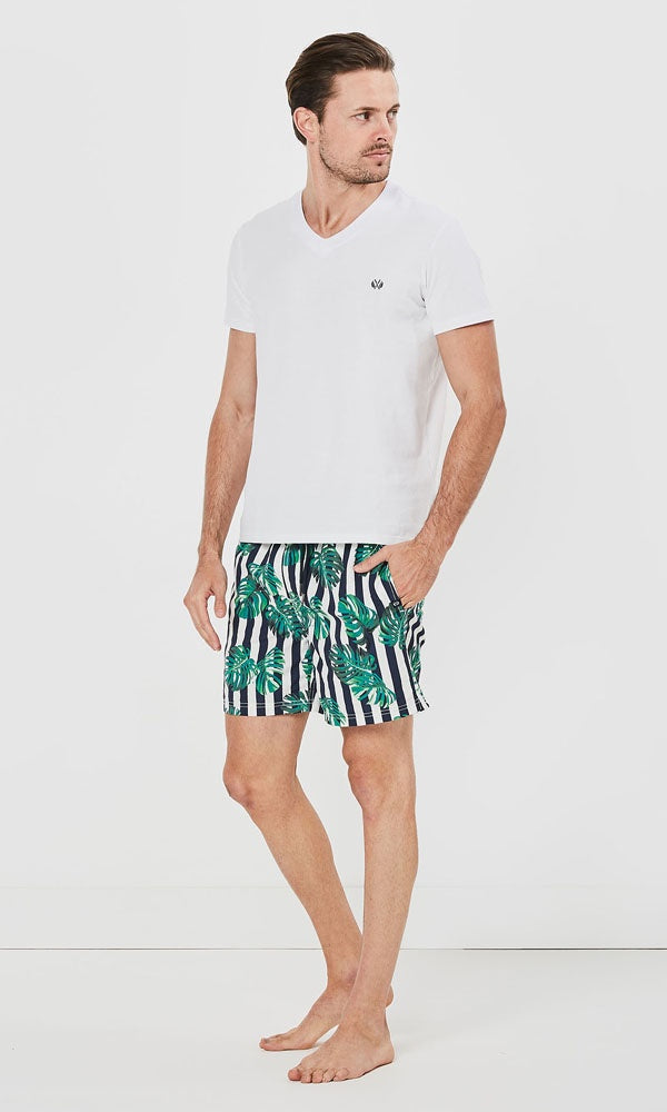 Boardshort Stripe Leaf