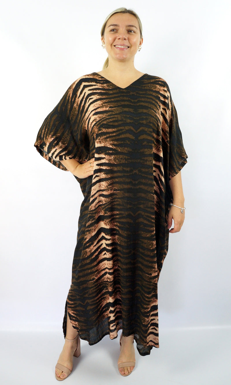 Rayon Kaftan Long Wildcat, More Colours