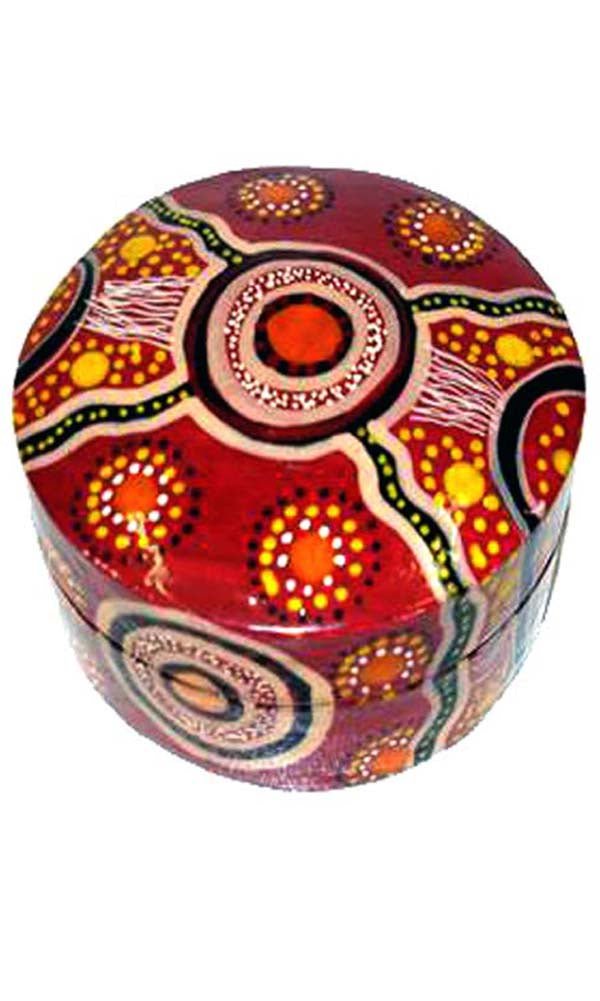 Aboriginal Art Lacquer Pill Box by Jane Oliver (4)