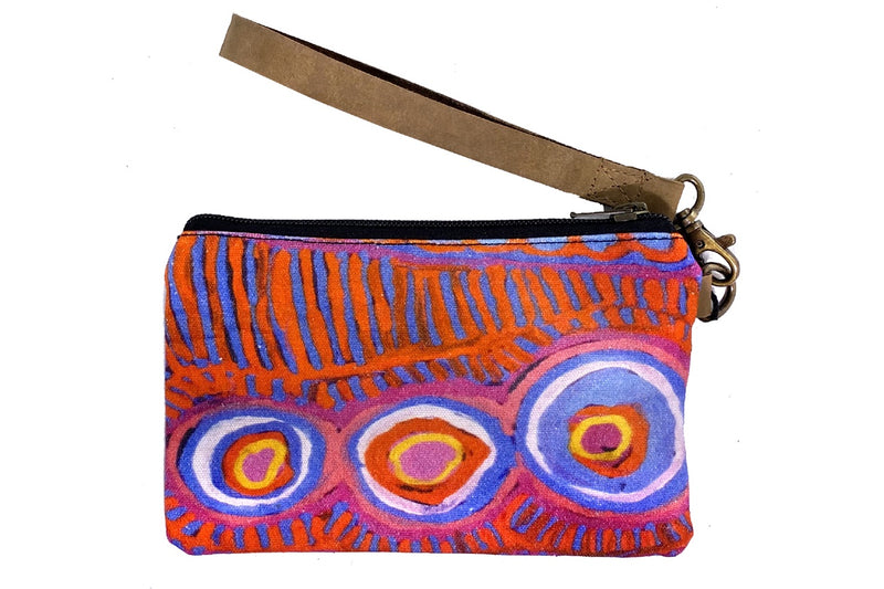 Canvas Pouch with Leather Strap by Murdie Nampijinpa Morris (2)