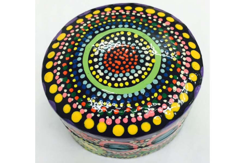 Aboriginal Art Lacquer Pill Box by Jillary Lynch (2)