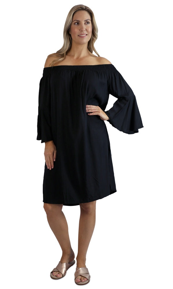 Rayon Dress Malibu Plain, More Colours