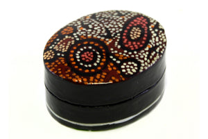 Aboriginal Art Small Lacquer Pill Box by Pauline Nampijinpa Singleton (2)