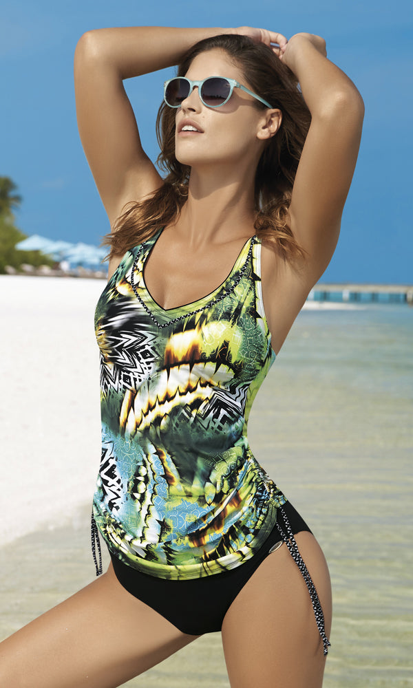 Tankini Set Green Sunrise, Pre-Order B Cup to F Cup