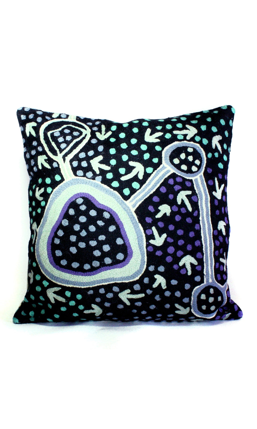 Aboriginal Art Cushion Cover by Pauline Nampijinpa Singleton