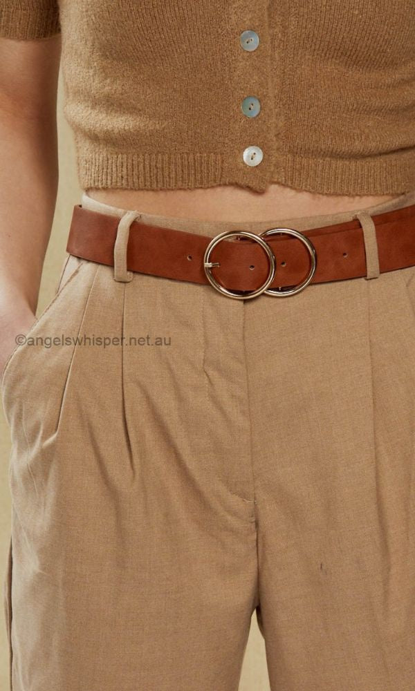 Oversized Double Hoop Jean Belt, More Colours