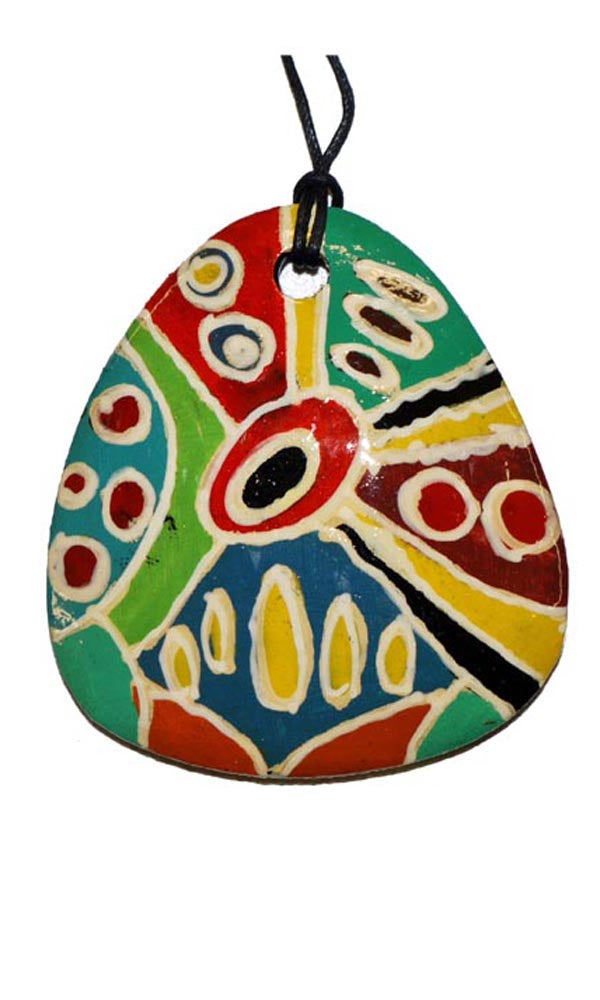 Aboriginal Art Pendant by Marie Young