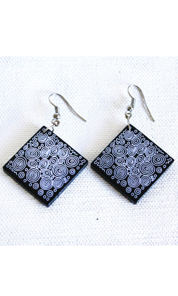 Aboriginal Art Ceramic Earrings by Nelly Paterson