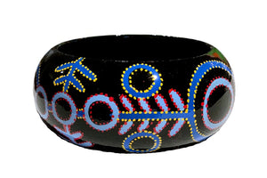 Aboriginal Art Bangle by Theo Hudson