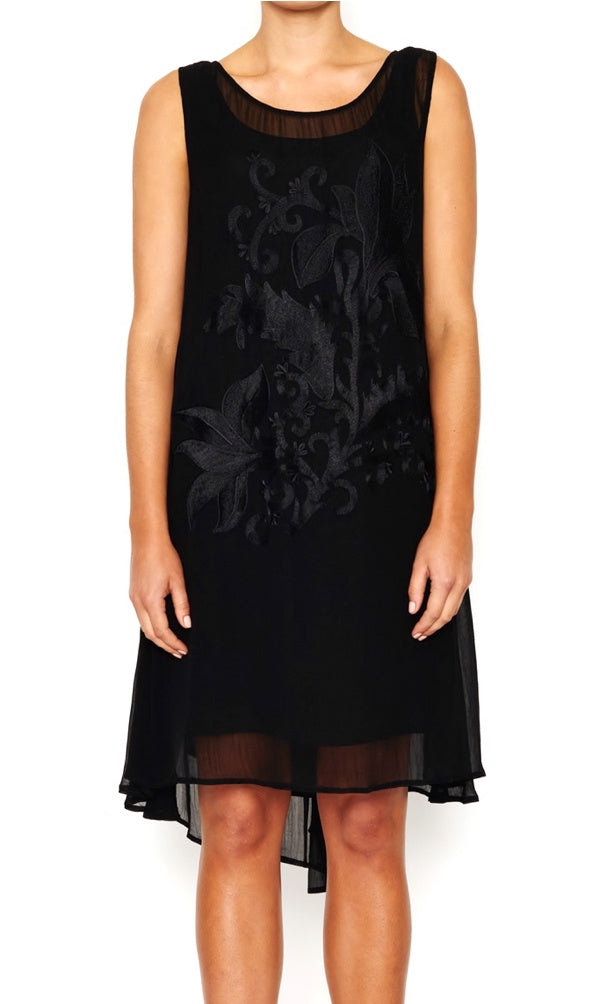 Viscose Dress Embroidered Front