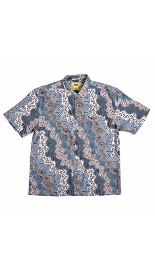 Bamboo Men's Shirt Aboriginal Art Vaughan Springs