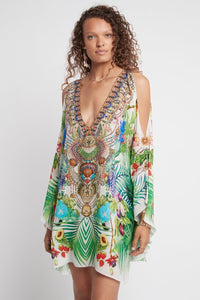 Silk Kaftan Dress Love in Paradise