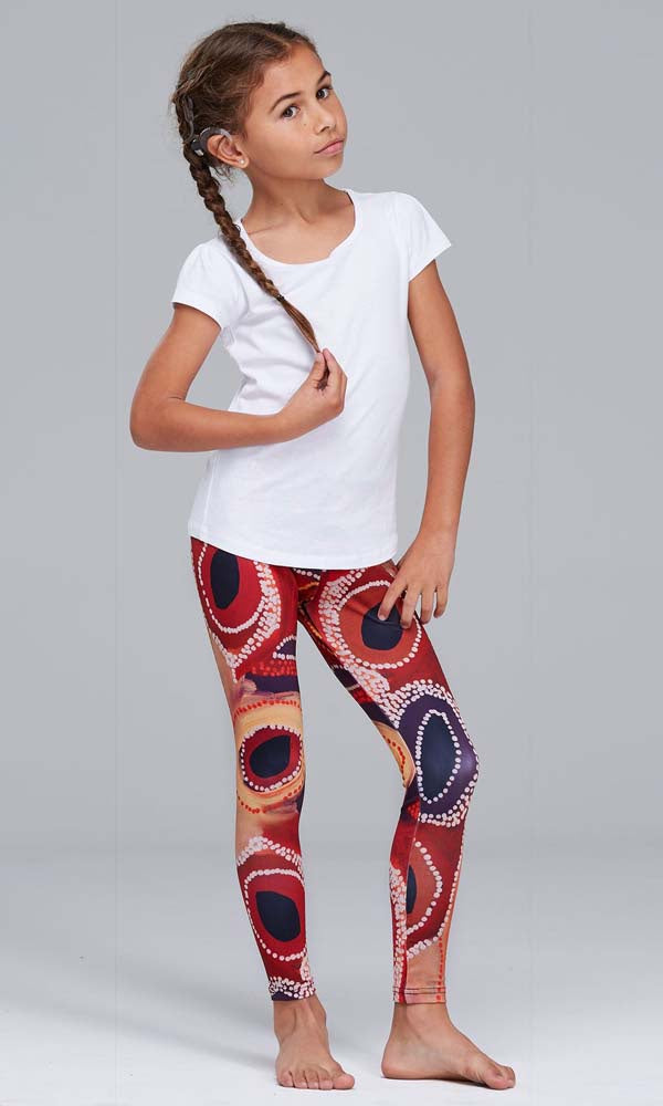 Aboriginal Art Kids Leggings Kaalpa