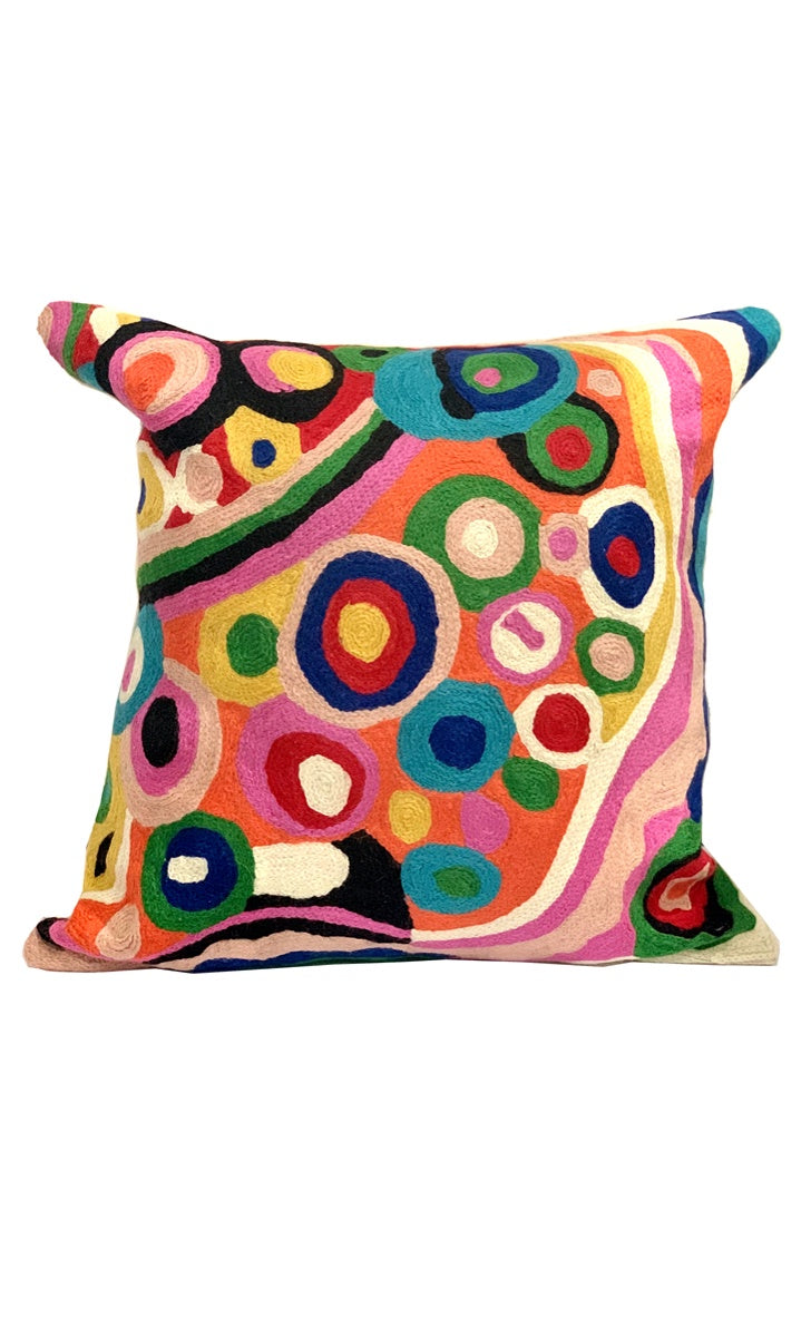 Aboriginal Art Cushion Cover by Andrea Adamson