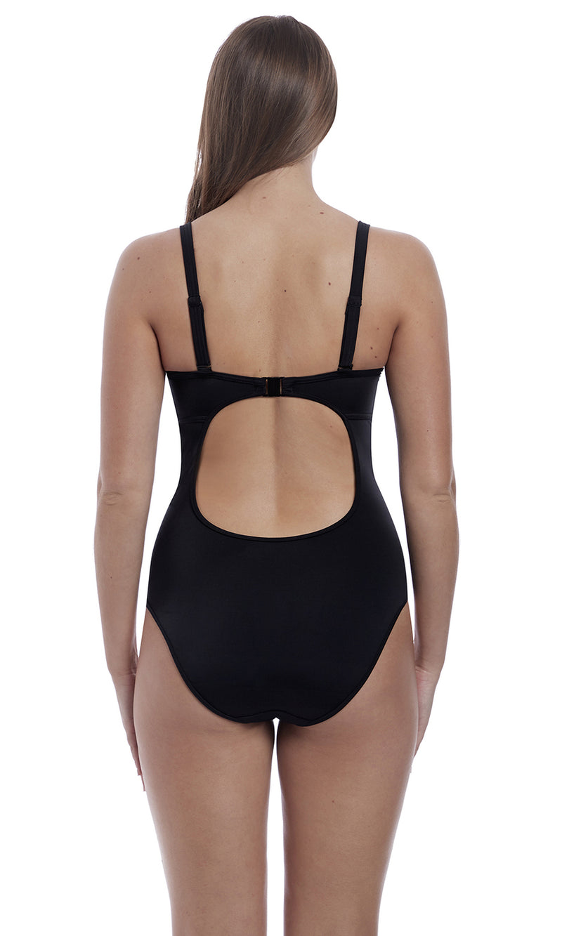 Remix Black UW Padded Convertible Plunge Suit, Pre-Order D cup to H Cup