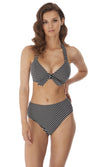 Beach Hut Black UW Bandless Halter, Pre-Order D Cup to GG Cup
