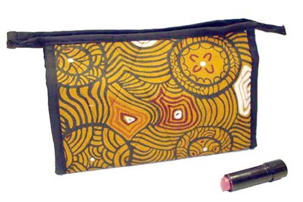 Aboriginal Art Cosmetic Bag Canvas - Bessie Liddle