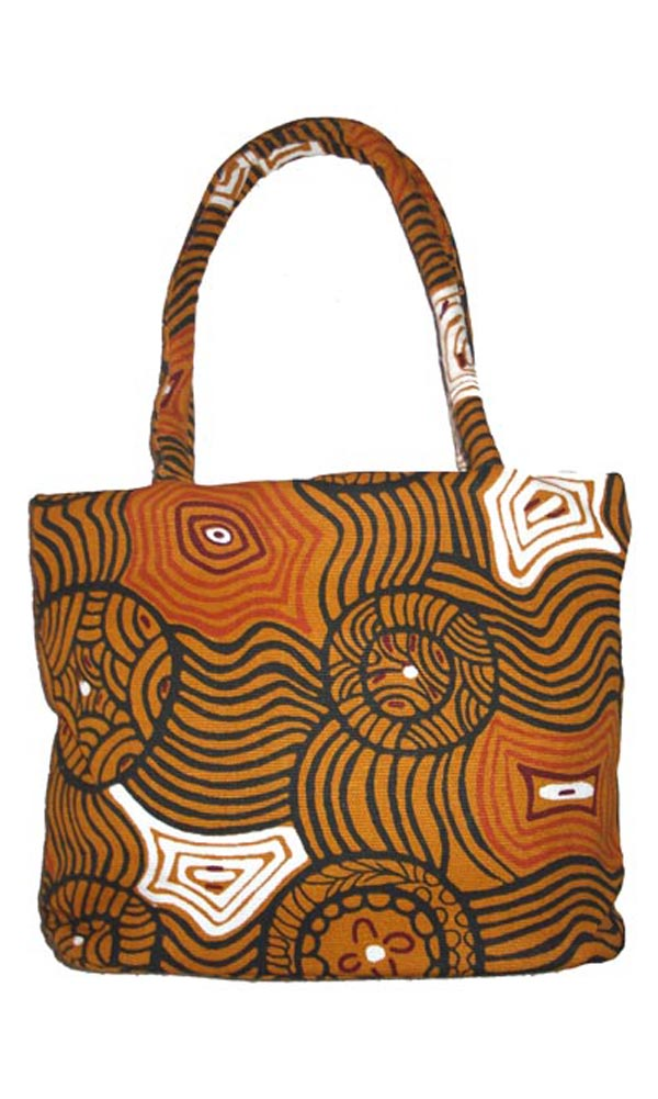 Aboriginal Art Hand Bag Jukurrpa - Bessie Liddle