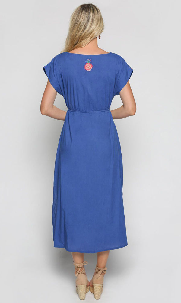 Cotton Dress Shari Fantasy Blue