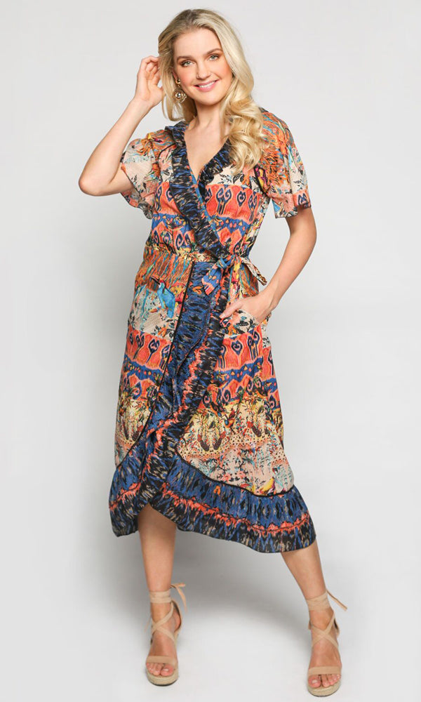 Cotton Dress Misha Wrap Bird Island