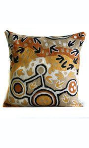 Aboriginal Art Cushion Cover by Pauline Napijinpa Singleton