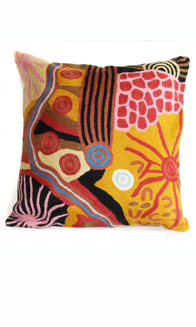 Aboriginal Art Cushion Cover by Damien & Yilpi Marks (3)