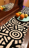 Aboriginal Art Wool Chainstitch Table Runner by Nelly Paterson