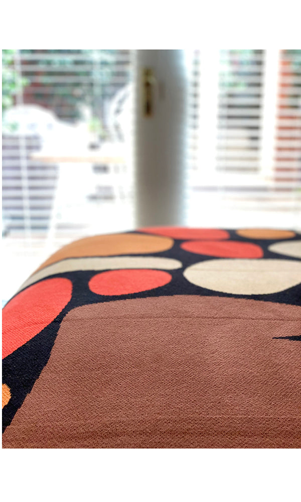 Aboriginal Art Cotton Throw by Keturah Nangala Zimran