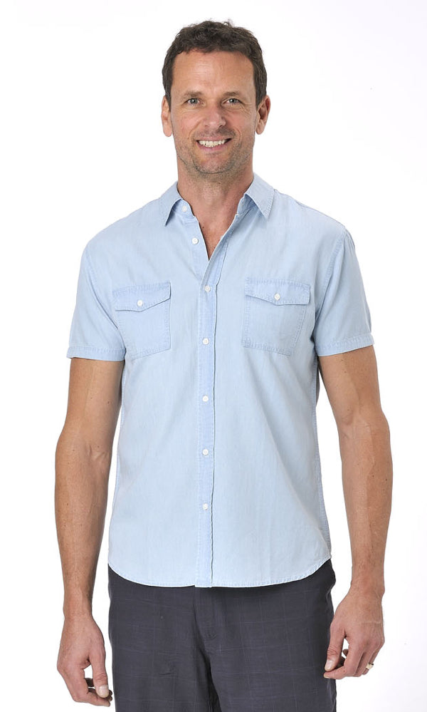 Bamboo Men's Denim Shirt SLIM FIT CUT, More Colours