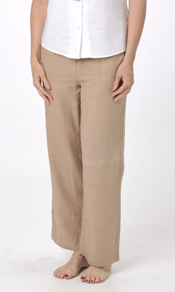 Bamboo Pant Ladies Beach Latte, Sizes 8 - 20