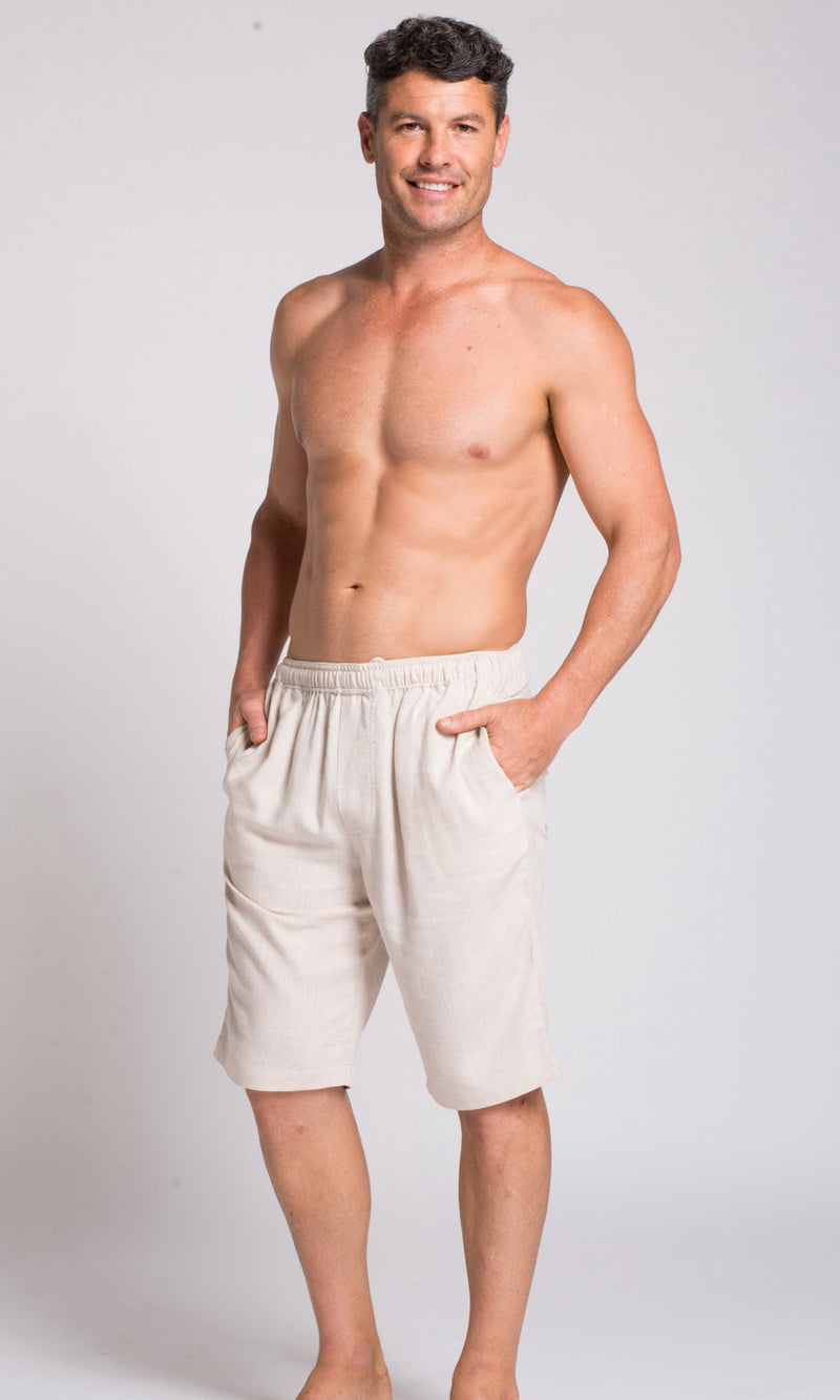 Hemp Bamboo Elastic Waist Short, More colours