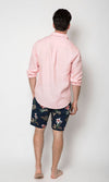 Linen Shirt Long Sleeve Pink