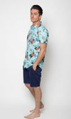 Cotton Poplin Shirt Hawaiian Floral