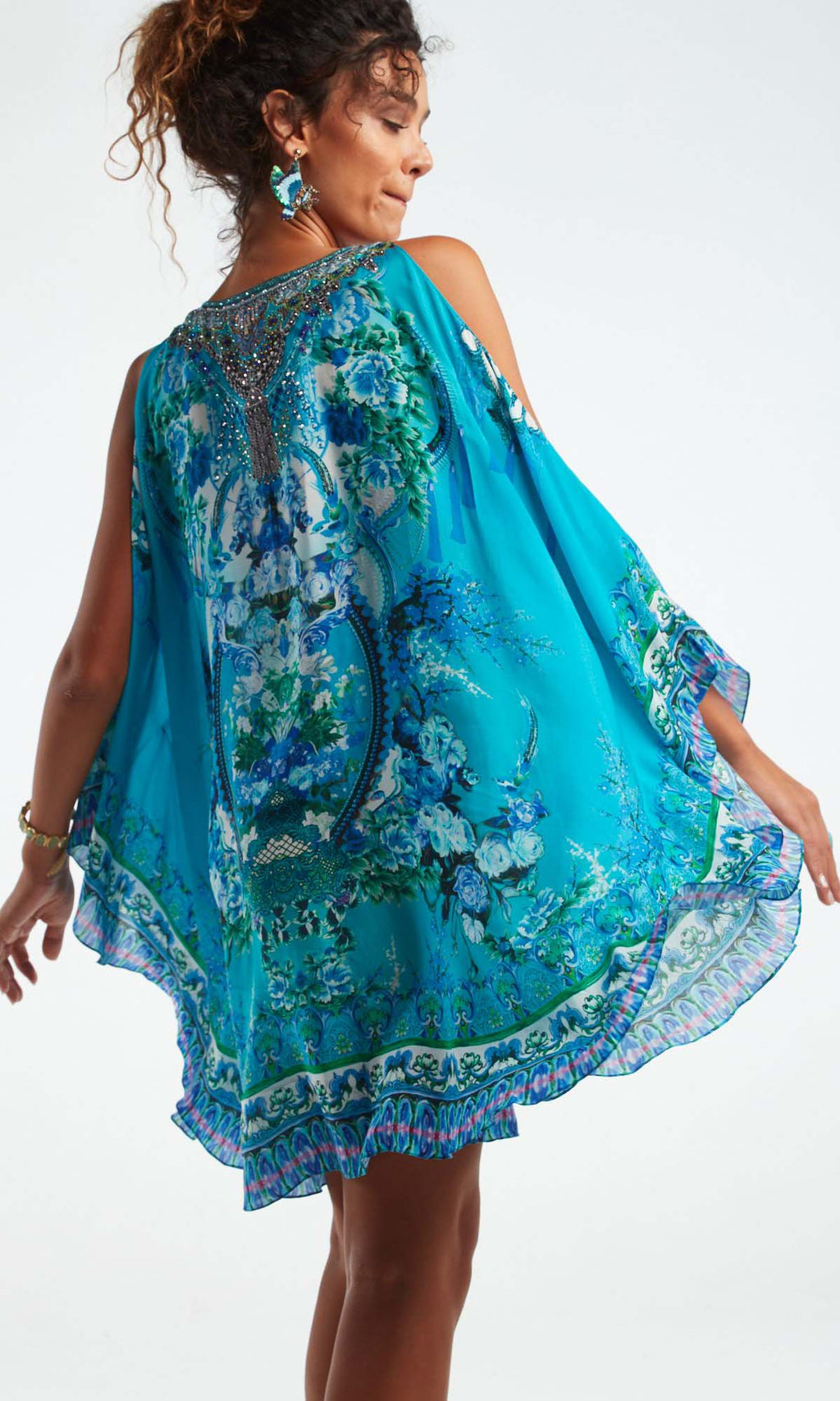 Silk Kaftan Dress Those Blue Eyes