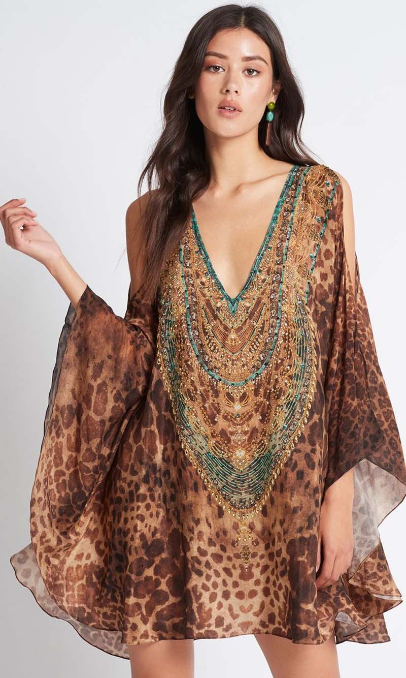 Silk Kaftan Dress Gaia