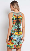Silk V-Neck Dress Short Cuban Nights