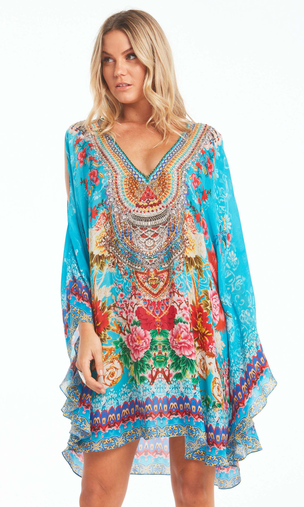 Silk Kaftan Dress Once In A Blue Moon