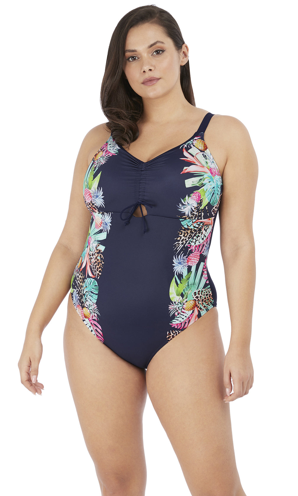 Pina Colada Midnight Non Wired Moulded Swimsuit, Pre-Order Size XL - 6 XL