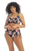Dark Tropics Black Adjustable Bikini Brief..Pre-Order Size L - 6XL