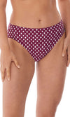 Santa Monica Garnet Mid Rise Brief