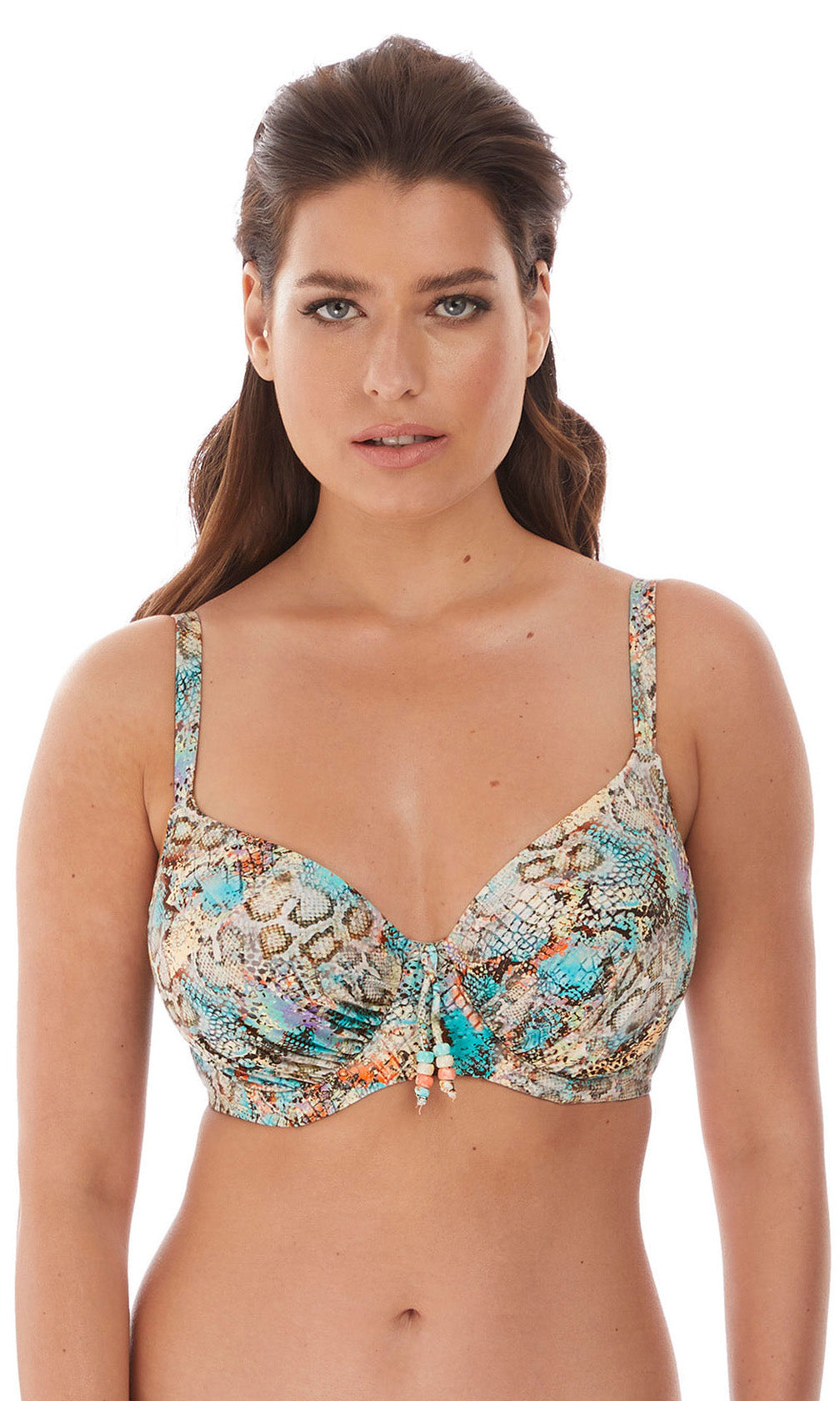 Manila Iced Aqua UW Gathered Full Cup Bikini Cup