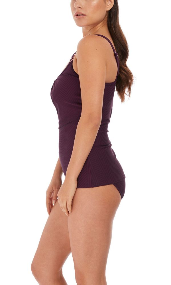 Long Island Vino UW Scoop Neck Tankini