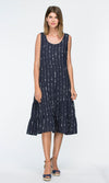 Viscose Dress Stripe Print