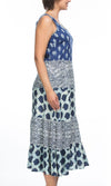 Cotton Viscose Tiered Dress Multi Print